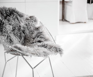 chair, fur, and inspo image