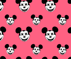 mickey, pink, and wallpaper image