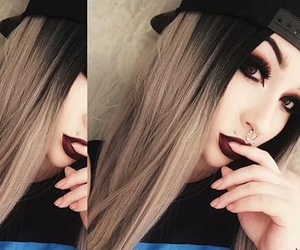 beauty, hairstyle, and emo image
