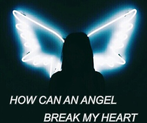 angel, blue, and break image