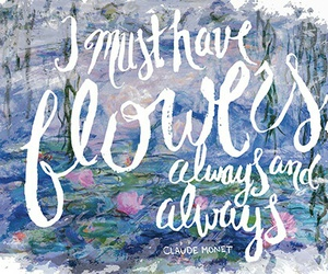 art, claude monet, and quote image