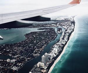 plane, city, and travel image