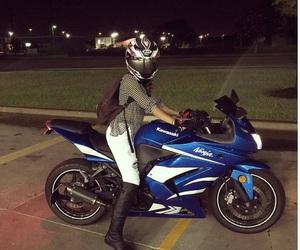Chick, moto, and girl image