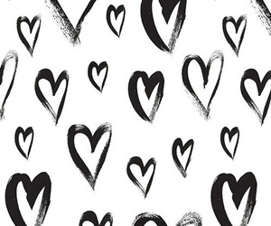 black, iphone wallpaper, and heart image