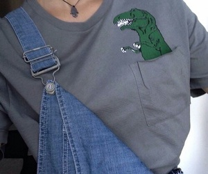 clothes, dinosaure, and grunge image