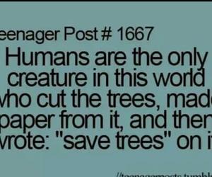 teenager post, humans, and tree image