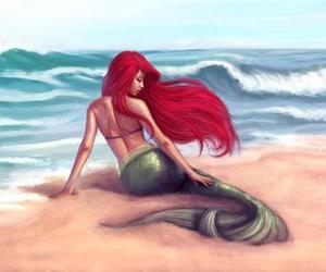 ariel, mermaid, and disney image