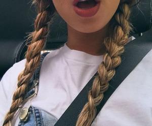 girl, lips, and braid image