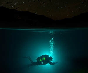 stars, water, and diving image