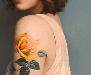tattoo, rose, and body image