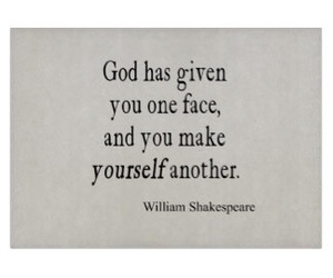 god, william shakespeare, and one face image