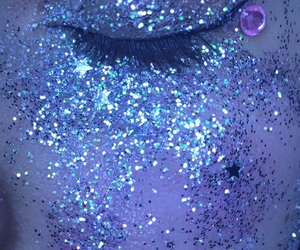 glitter, blue, and aesthetic image