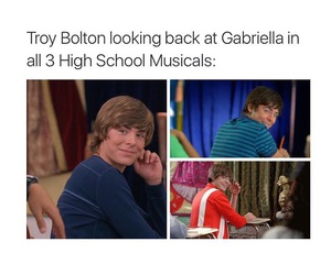 high school musical and zac efron image