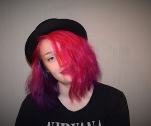 colored hair, grunge, and nirvana image