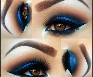 blue, fashion, and makeup image