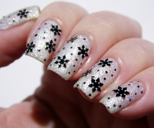 barry m, glitter nails, and winter nails image