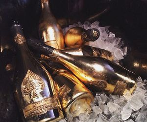 champagne, theme, and gold image