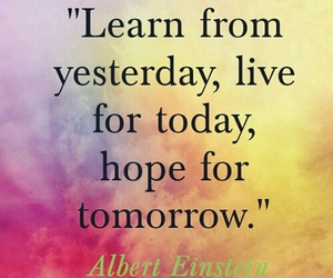 Albert Einstein, hope, and learn image