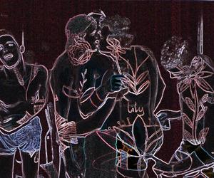 theme, dark, and art image