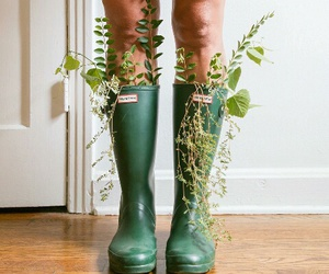 green, plants, and boots image