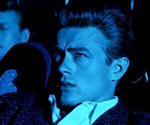james dean, blue, and dreaming image