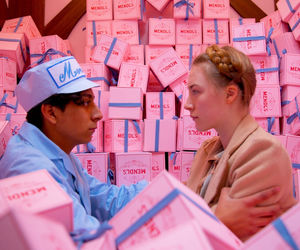 blue, pink, and wes anderson image