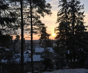 finland, sun, and winter image