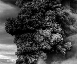 smoke, volcano, and nature image