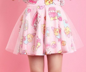 pink, skirt, and kawaii image