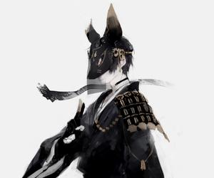 anime, mask, and boy image