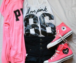 pink, fashion, and outfit image