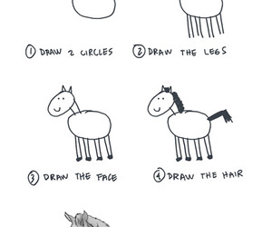 art, funny, and horse image