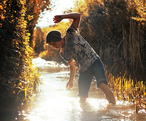 boy, water, and photography image