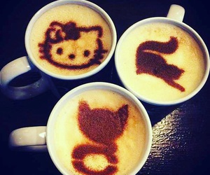 cafe, coffe, and hello kitty image