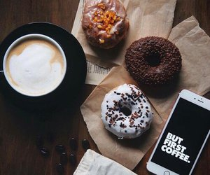 coffee, donuts, and food image