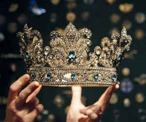 crown, Queen, and gold image