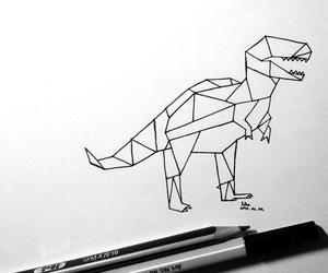 black, dinosaur, and line image