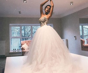 beautiful, bride, and gown image