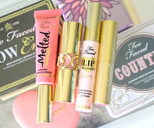makeup, lipgloss, and lipstick image