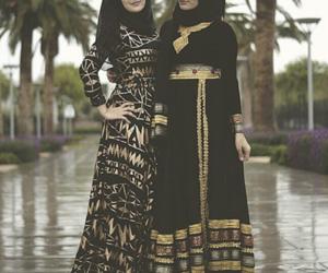 hijab, dress, and islam image