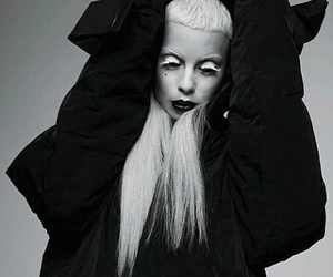 die antwoord, black and white, and yolandi image
