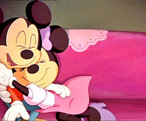 love, disney, and minnie image