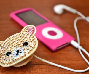 cute, pink, and ipod image
