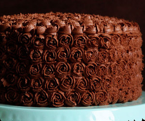 cake, chocolate, and chocolate cake image
