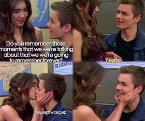 rucas, kiss, and girl meets world image