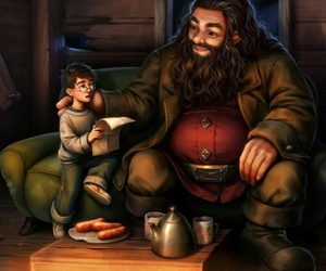 harry potter and rubeus hagrid image