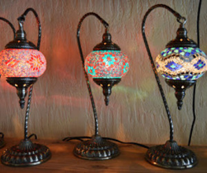 home decor, lamps, and mosaic image