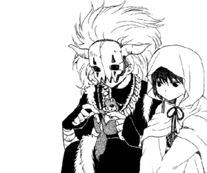 manga, monochrome, and otp image