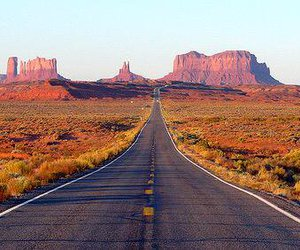 beautiful, highway, and landscape image