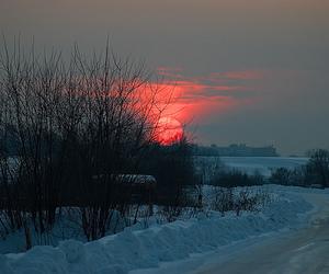 beautiful, sky, and snow image